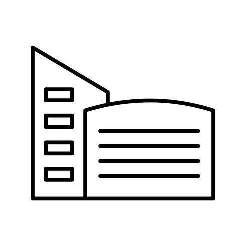 Gebäudelinie schwarze Ikone vektor