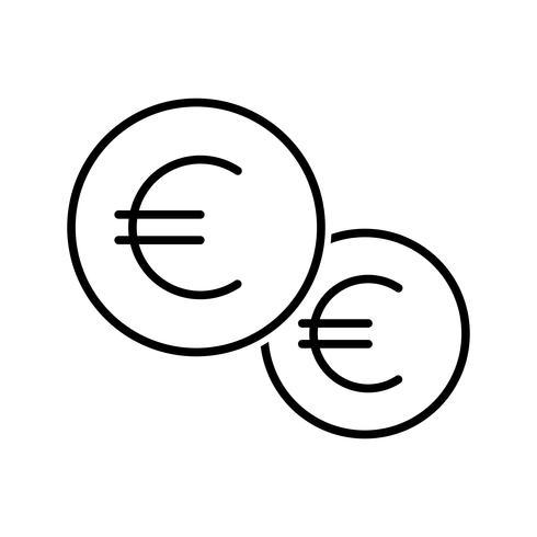 Münzen Linie schwarze Ikone vektor