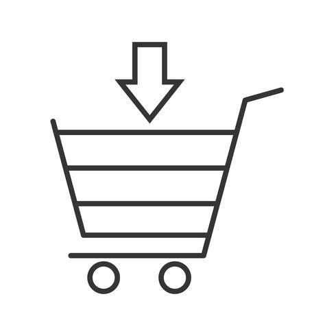 Einkaufszeile schwarze Ikone vektor