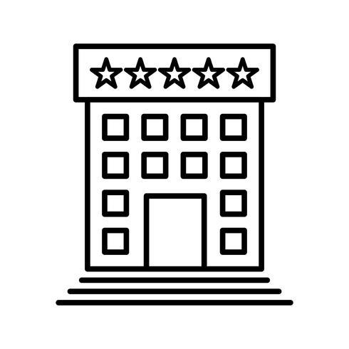Hotellinie schwarze Ikone vektor