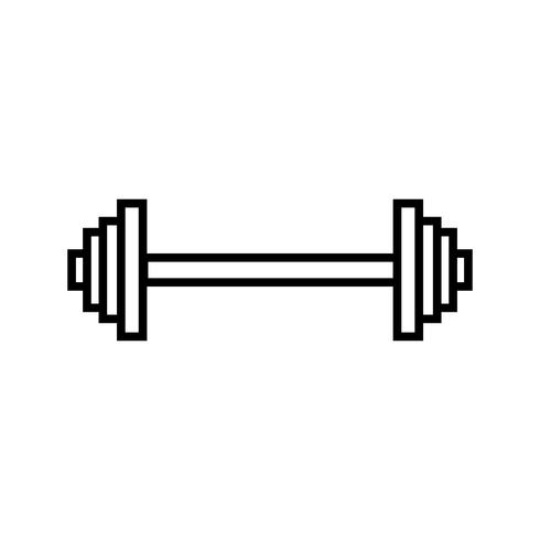 Linie für Gewichtheben schwarz vektor
