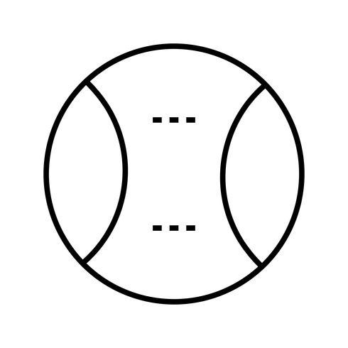 Softballlinie schwarzes Symbol vektor