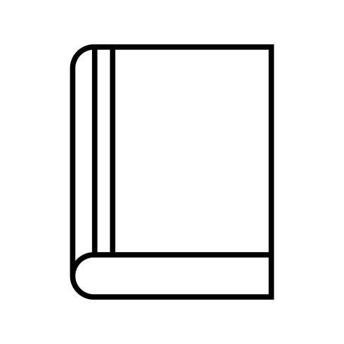 Notizbuchlinie schwarzes Symbol vektor