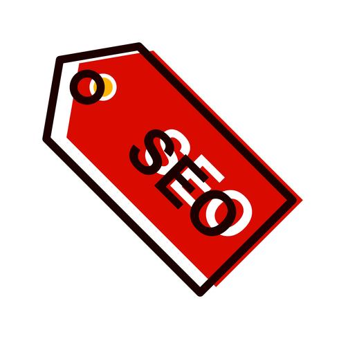 SEO-Tag-Icon-Design vektor