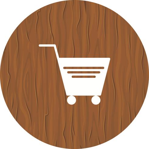 Einkaufswagen-Icon-Design vektor