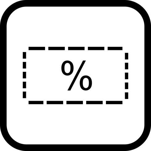 Rabatt Icon Design vektor