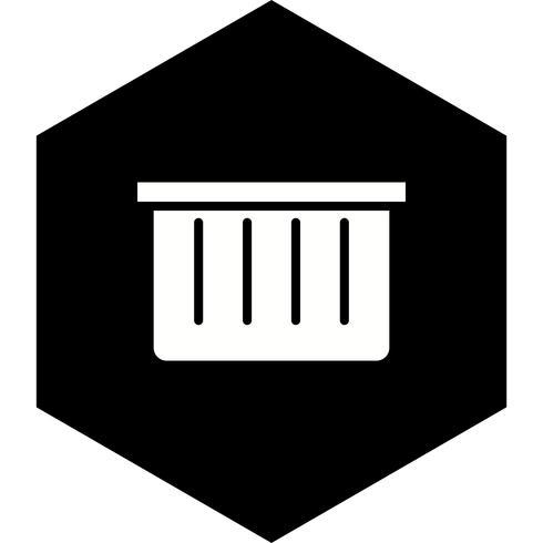 Korb-Icon-Design vektor