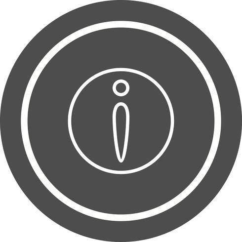 Informations-Icon-Design vektor
