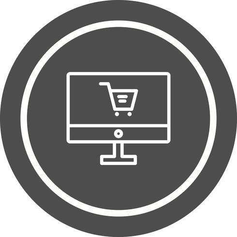 Online-Shopping-Icon-Design vektor