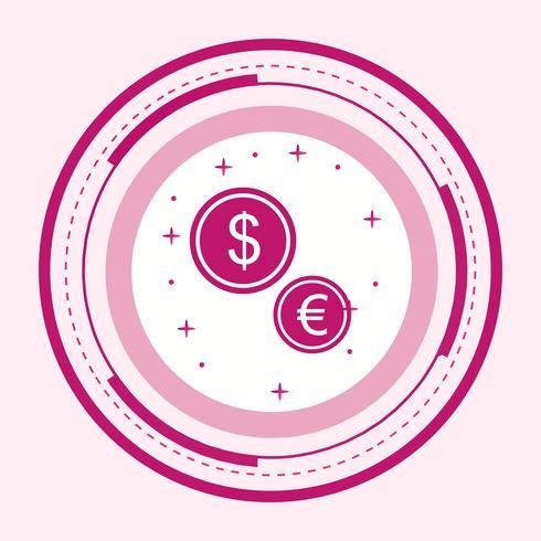 Währungs-Icon-Design vektor