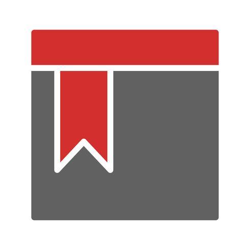 Icon-Design mit Lesezeichen vektor