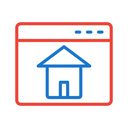 Homepage-Icon-Design vektor