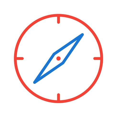 Kompass Ikon Design vektor