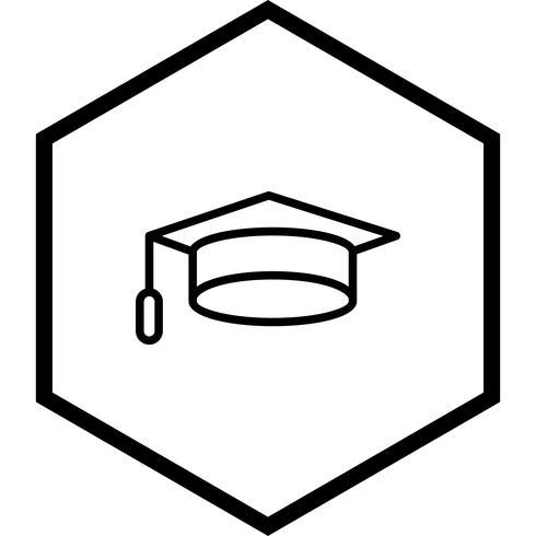 examen cap icon design vektor