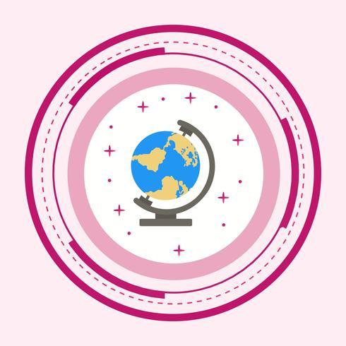Globe icon design vektor