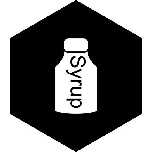 Sirup-Icon-Design vektor