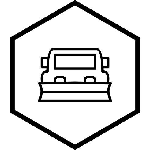 Schneepflug-Icon-Design vektor