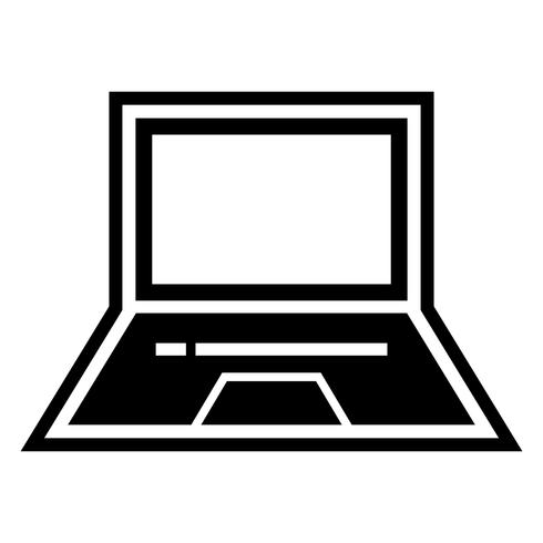 Laptop-Ikonendesign vektor