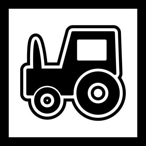 Traktor Icon Design vektor