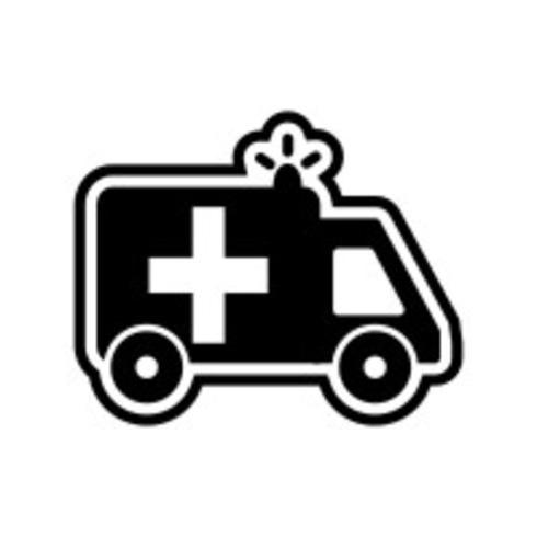 Krankenwagen-Icon-Design vektor