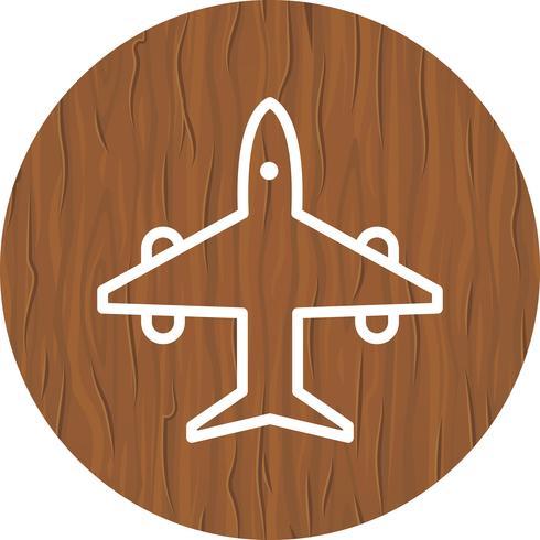 Flugzeug-Icon-Design vektor
