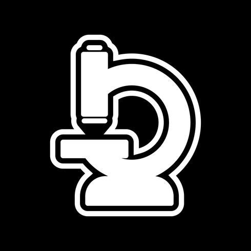 Mikroskop-Icon-Design vektor