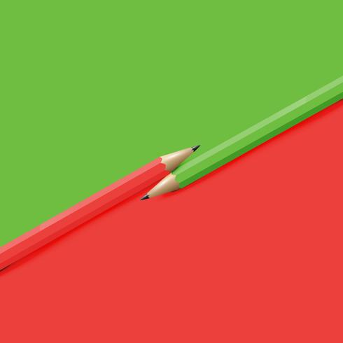 Hög detaljerad färgstark bakgrund med pennor, vektor illustration