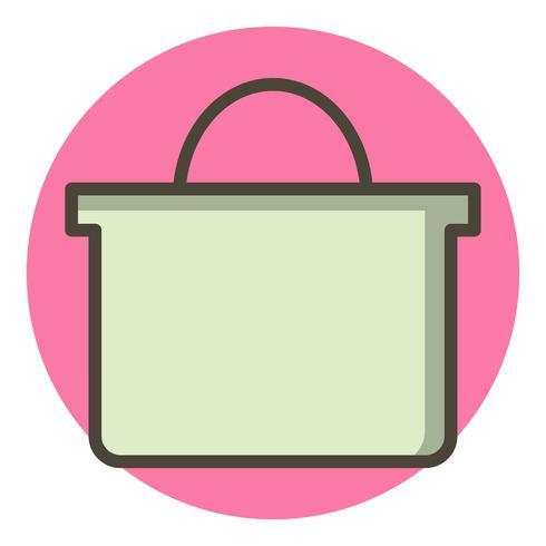 shoppingväska ikon design vektor
