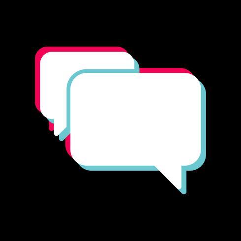 chat icon design vektor