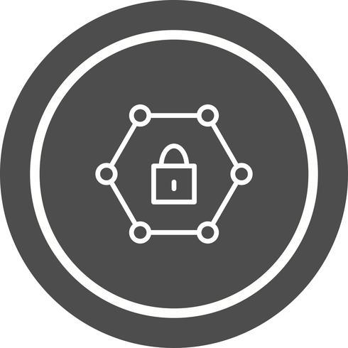 Geschütztes Netzwerk-Icon-Design vektor