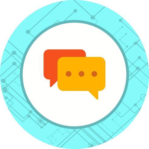Chat-Icon-Design vektor