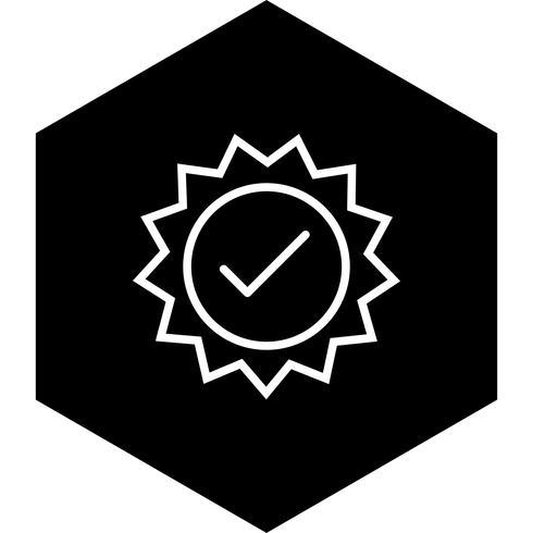 Giltig Stämpel Ikon Design vektor