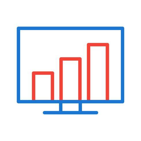 Statistik Icon Design vektor