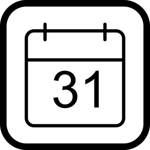 Kalender Icon Design vektor