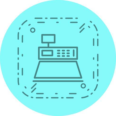 Geldzähler-Icon-Design vektor