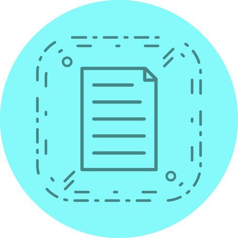 Dokument Ikon Design vektor