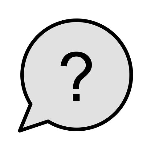 Frage-Icon-Design vektor