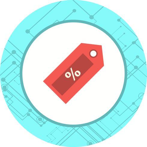 Rabatt-Icon-Design vektor