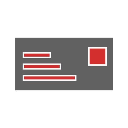 ID-kort Icon Design vektor