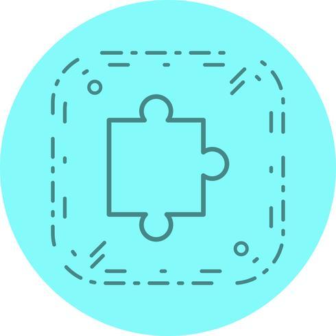 Puzzleteil-Icon-Design vektor