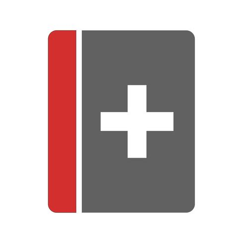medizinisches Buch-Icon-Design vektor