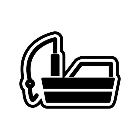 Fischerboot-Icon-Design vektor