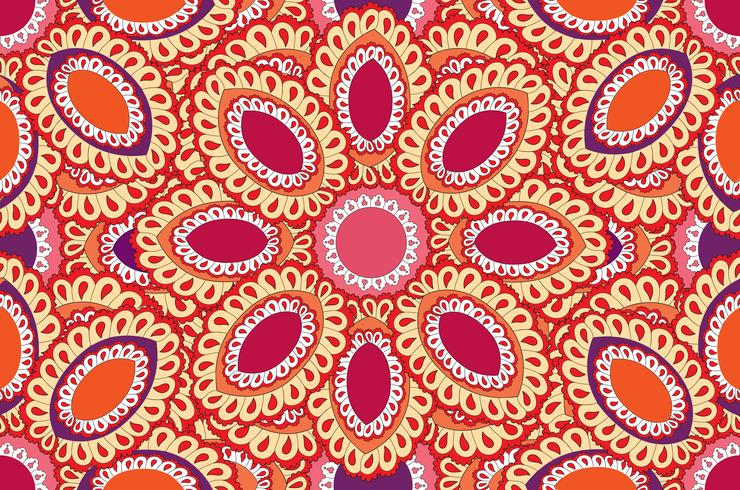Abstrakt orientaliskt blommigt sömlöst mönster. vektor