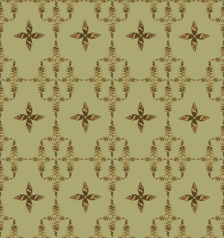 Abstrakt orientaliskt blommigt kakelmönster. Geometrisk prydnad. vektor