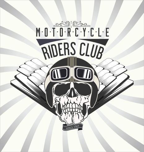 Vintage Motorrad Hintergrund vektor