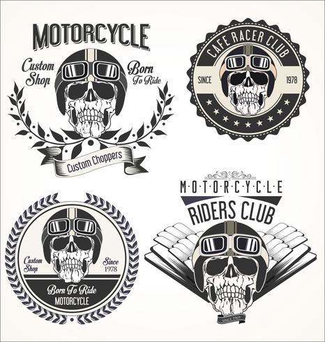 Vintage motorcykel bakgrund vektor