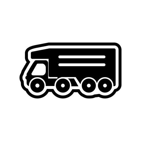 Kipper-LKW-Ikonendesign vektor