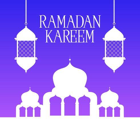 Ramadan Kareem bakgrund vektor