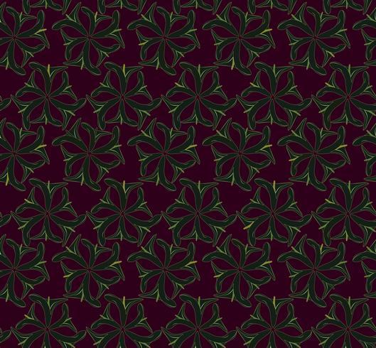 Abstrakt orientaliskt blommigt sömlöst mönster. Blommans dekorativa bakgrund. vektor