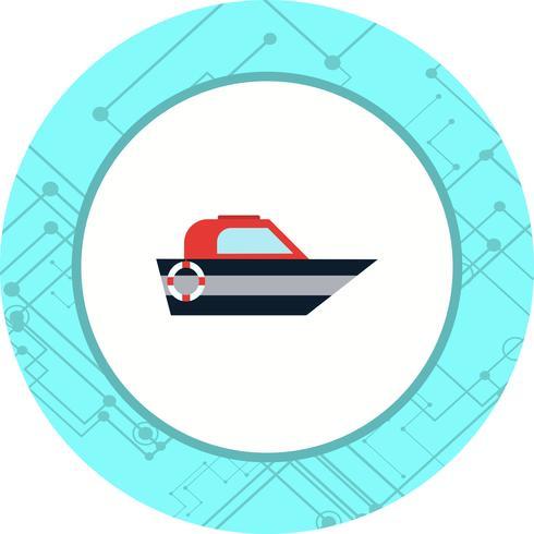 Båtikondesign vektor